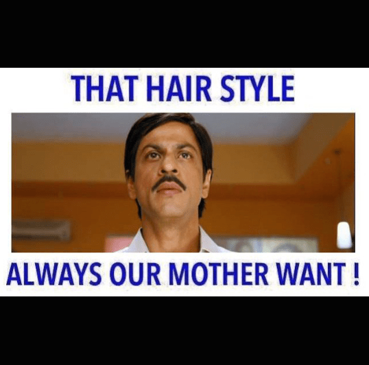 mom's favourite hairstyle
