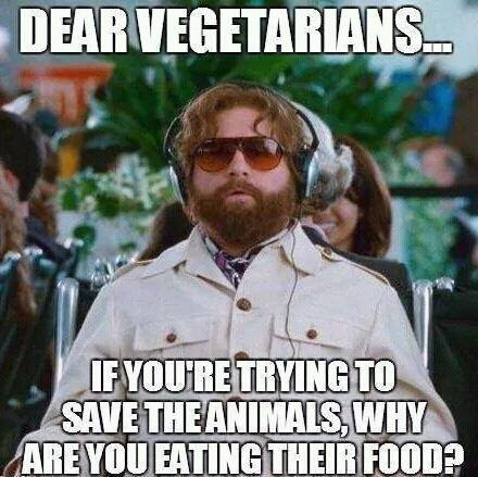 A note to vegetarians from non vegetarians