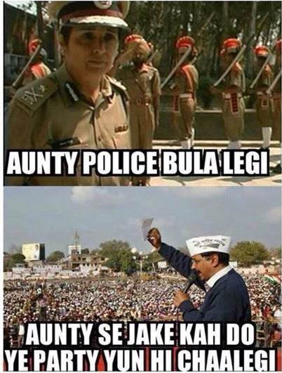 Kejriwal's answer to kiran bedi