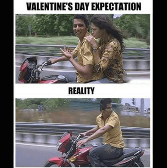 Valentine day expectation and reality