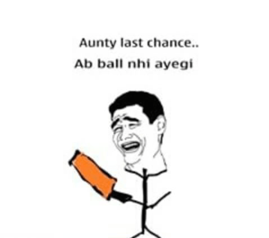 The actual fight while playing gully cricket