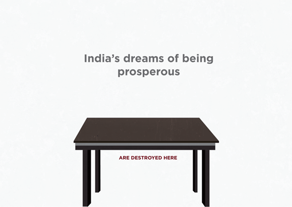 India is developing - under the table