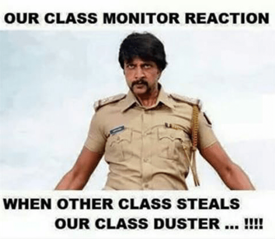The resposibility of being class monitor - golden school days