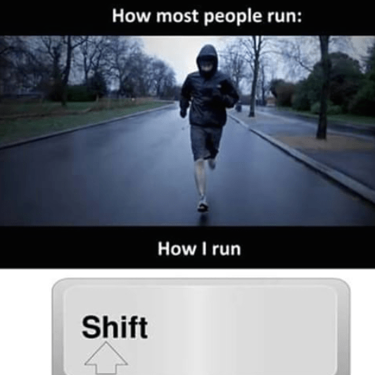 How most people run vs how i run