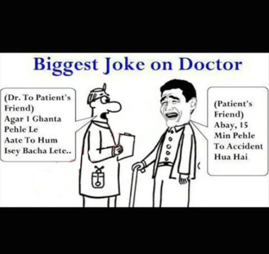 Biggest joke on doctor