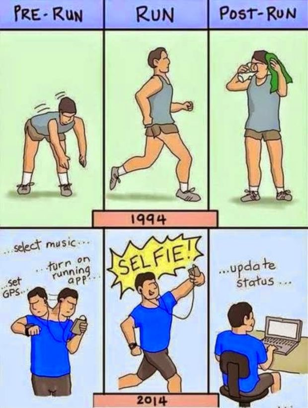 Difference in fitness freaks in 90's and these days