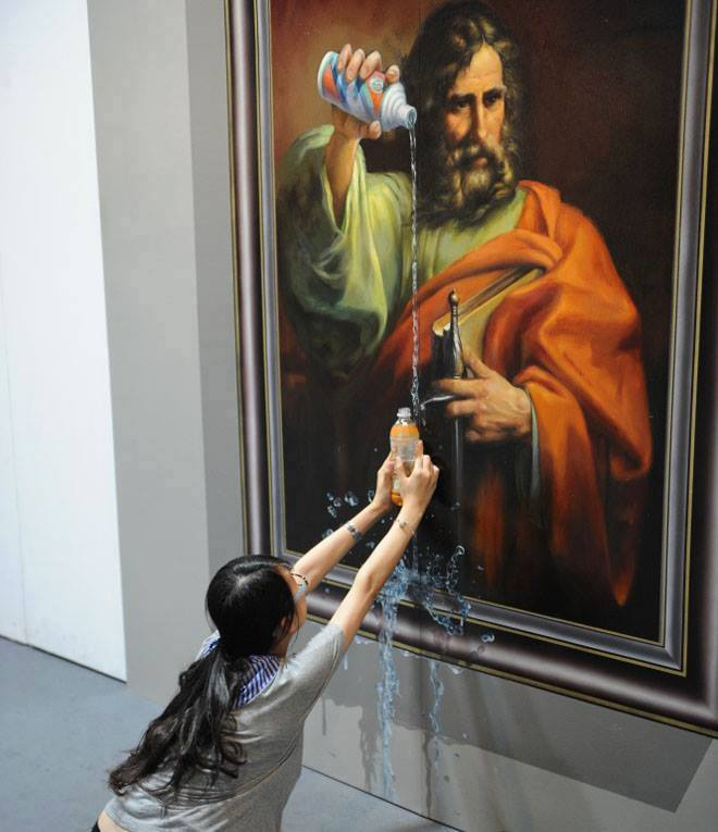 God's water - illusion painting