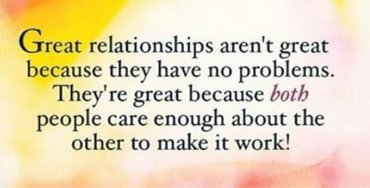 Its all about how you handle your relationship