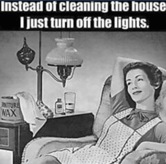 The heights of lazyness when it comes to house cleaning