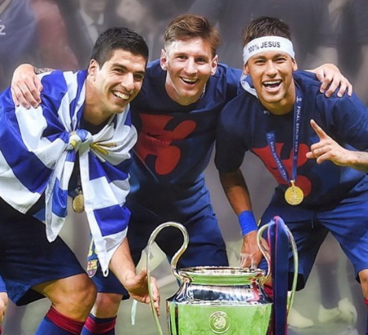 The most dangerous trio - Messi, Neymar jr and Suarez