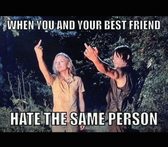 When you and your best friend hate the same person