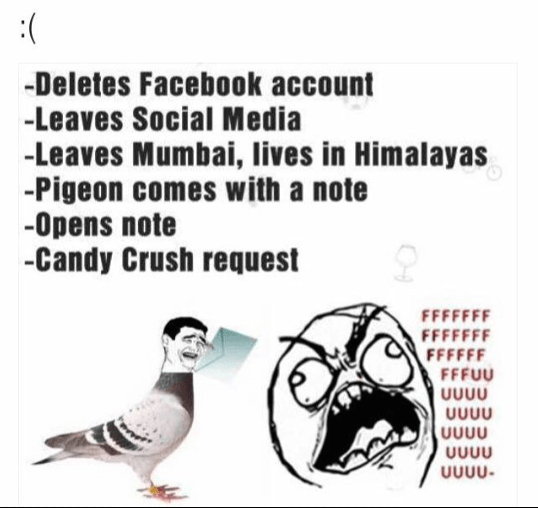 Love ends with a candy crush request