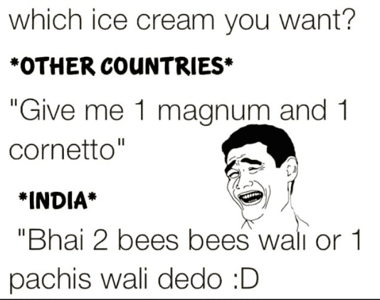 How people purchase ice cream in different countries and India