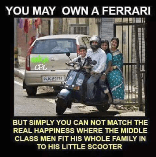 You may own a ferrari but the fun on scooter with familly is unbeatable