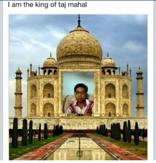 Taj Mahal conquered by a cool dude