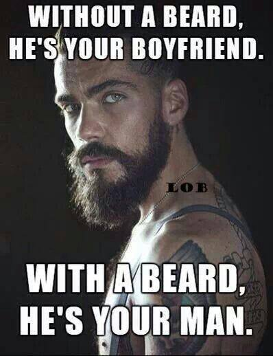 A beard makes you a man