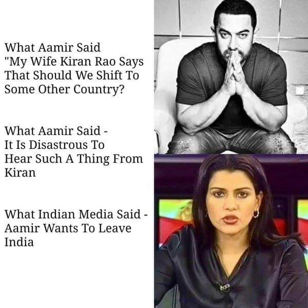 How Indian media changes everthing - Aamir Khan statement
