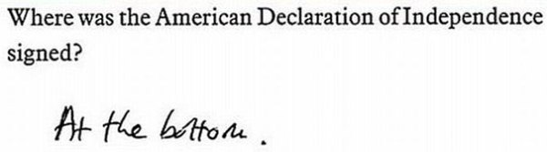 Where was the American declaration of Independence signed