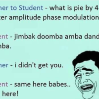 Teacher and student funny conversation image