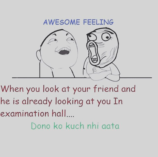 Best friend in exam - Funny picture