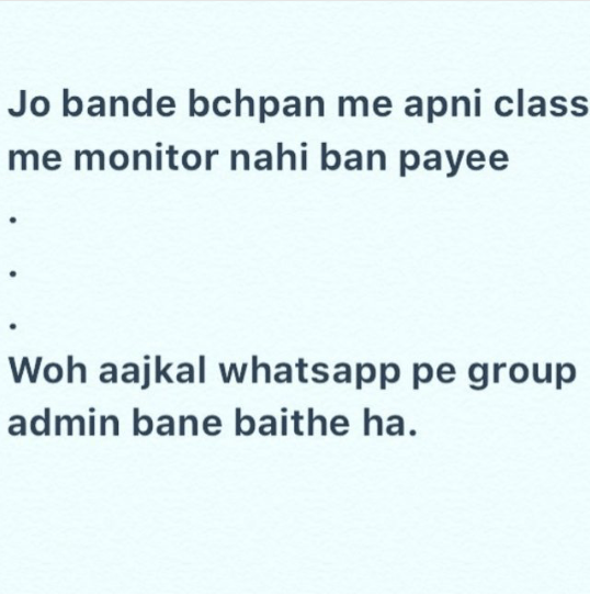 Whatsapp group admin - funny hindi joke