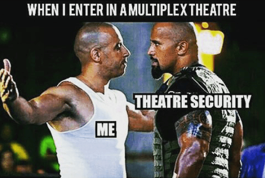 Your entry into multiplex theatre - funny image