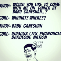 Barbeque nation or babuganeshan - funny image