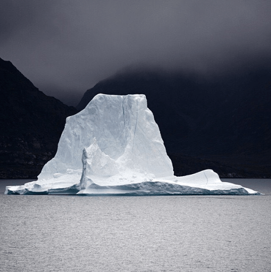 Serene and lonely iceberg - beautiful image