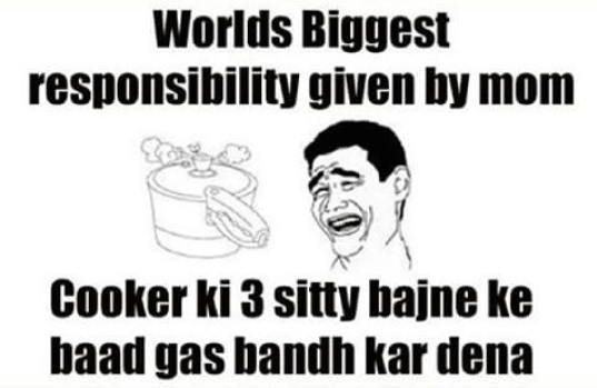 Worlds biggest responsibility given by mom - whatsapp image