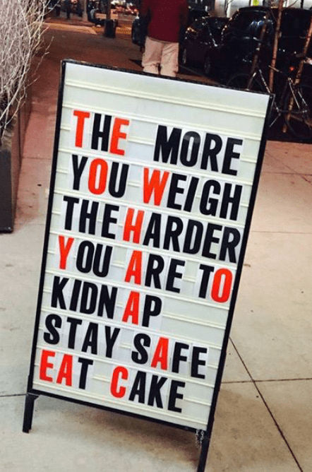 Stay fit saty safe eat cake be healthy - workout image