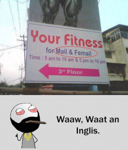 Please join your fitness to have best body and great english