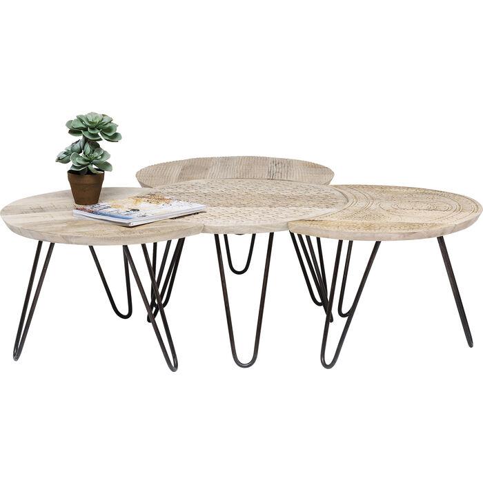 coffee table puro 4 set kare design