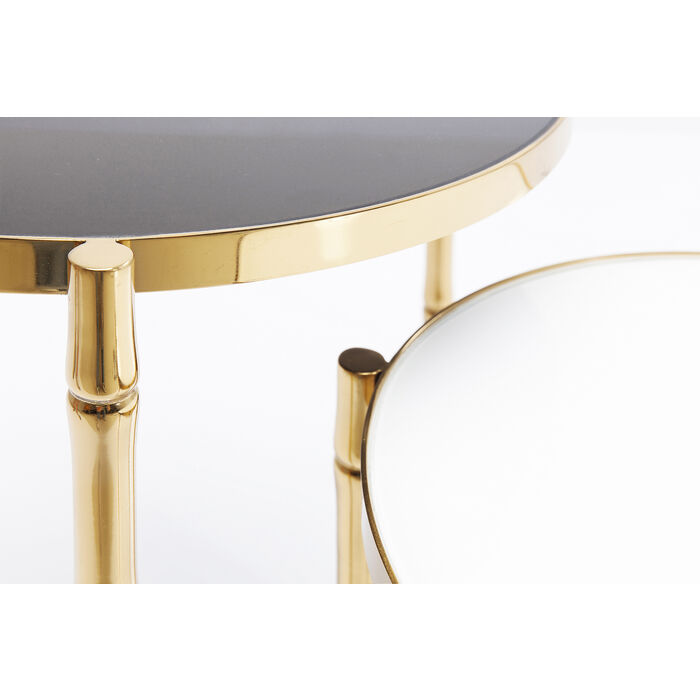 side table hipster bamboo 2 set