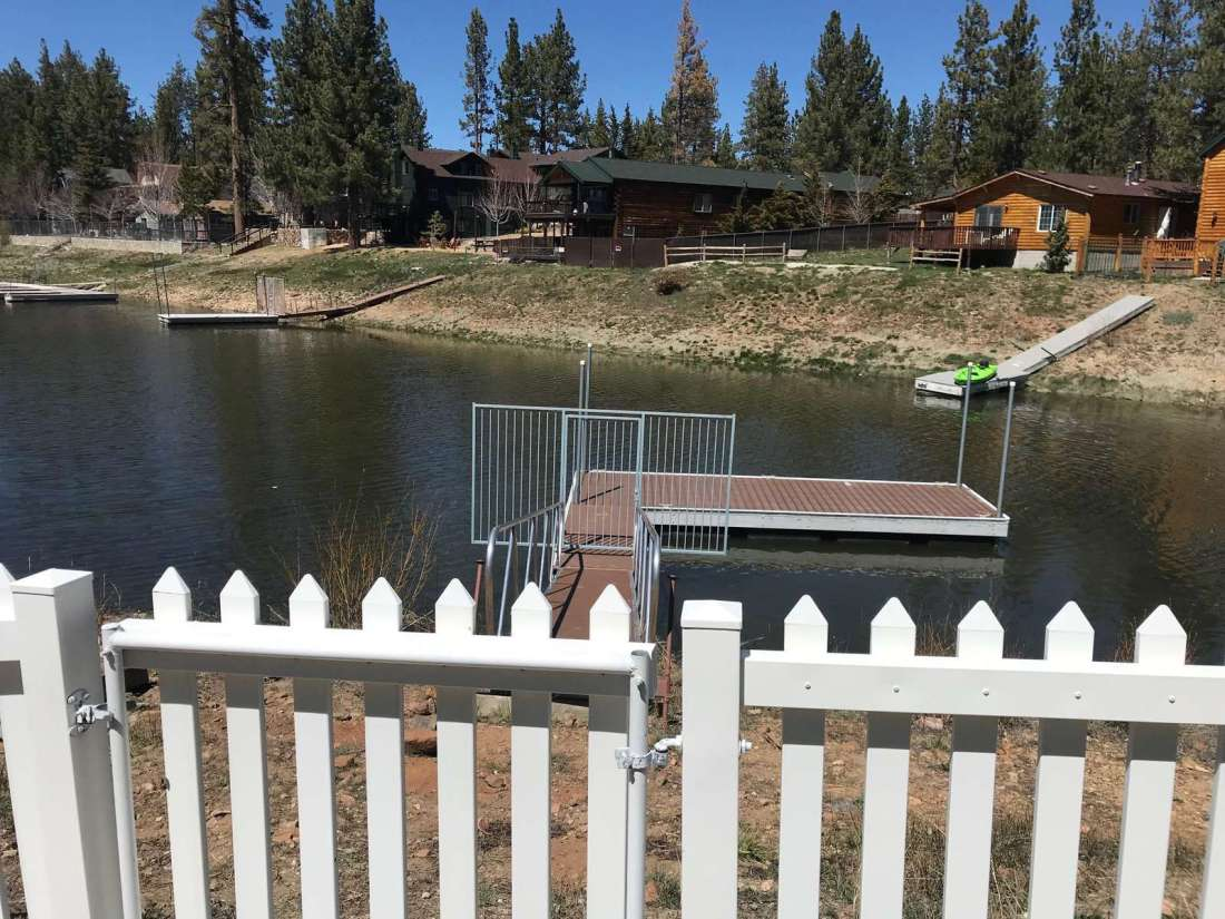 This photo taken of the property's dock on April 23, 2019. Gate leads from the backyard to the dock ramp.