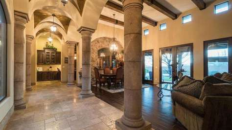 Entry with Vaulted Ceilings