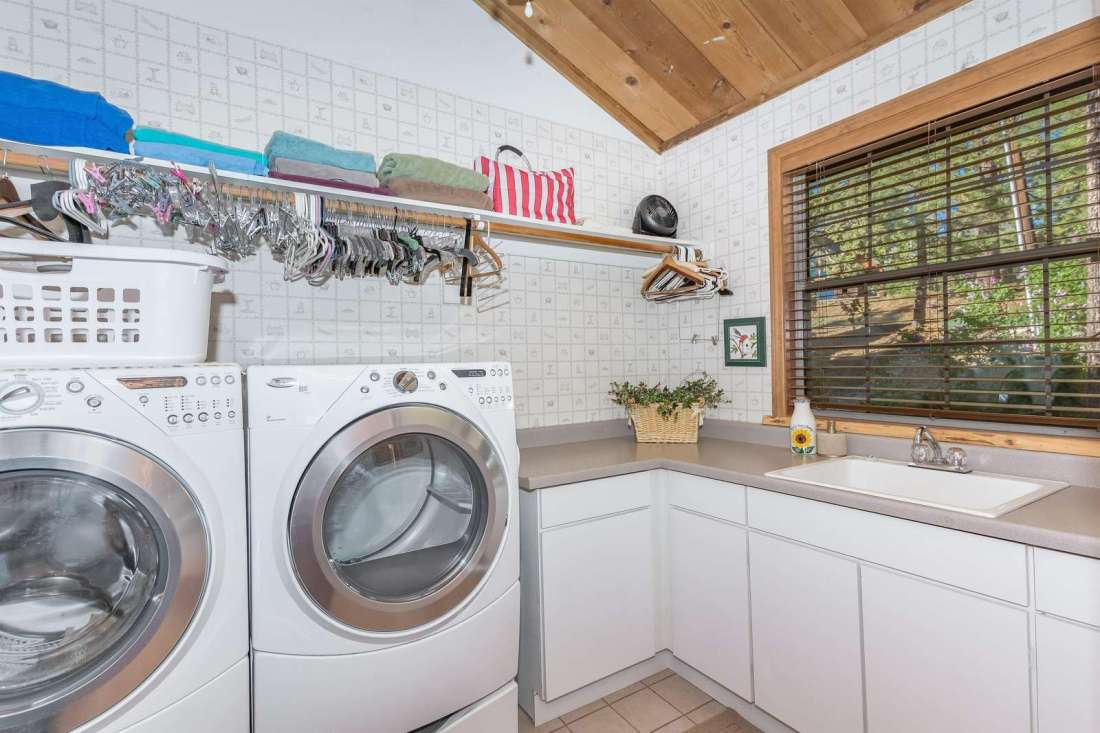 Large laundry area for extended stays