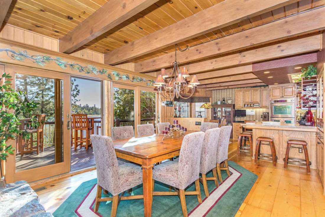 Large dining area both inside and out