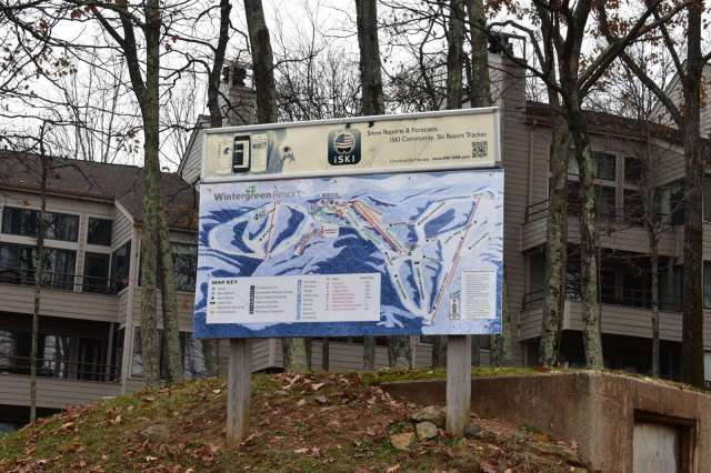 Slope Map at the top of Dobie Ski Trail