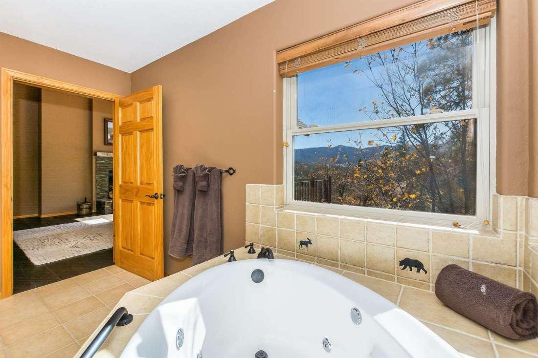 Soaking tub with views
