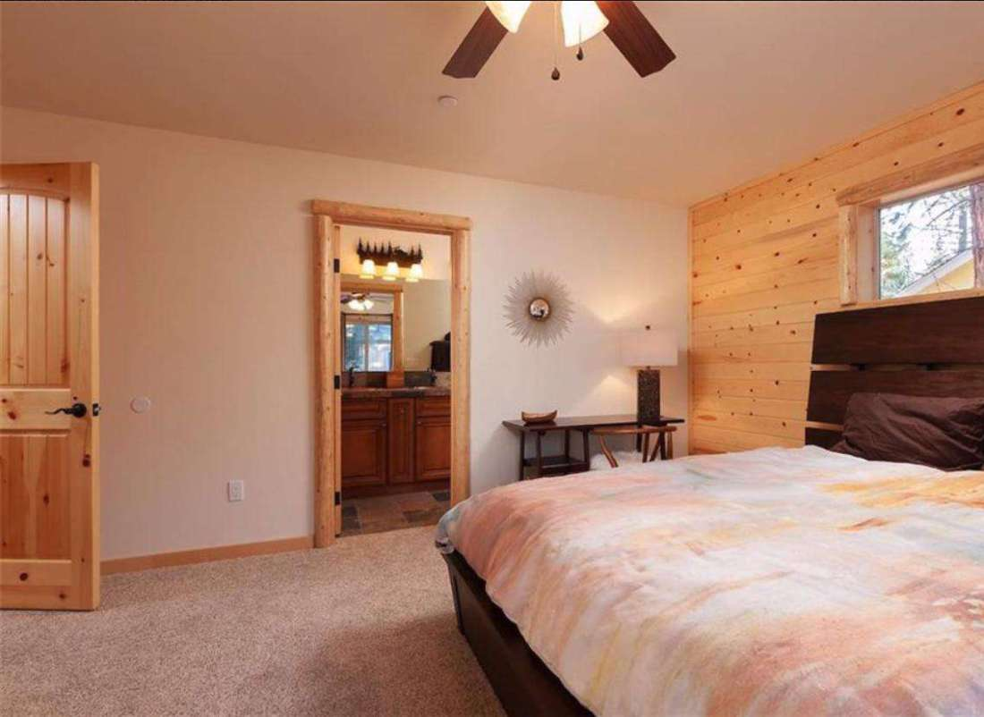 Master bedroom with new queen bed