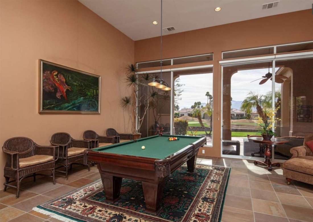 Pool table with views of course