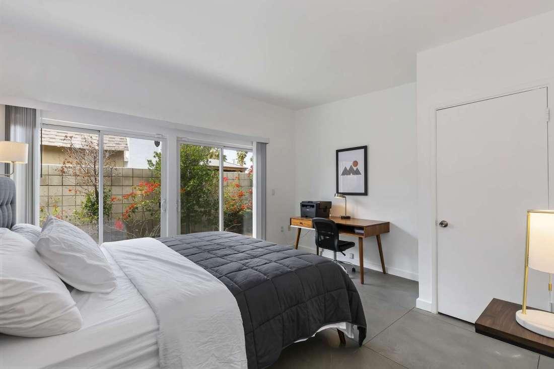 Bedroom 2 with backyard sliding door