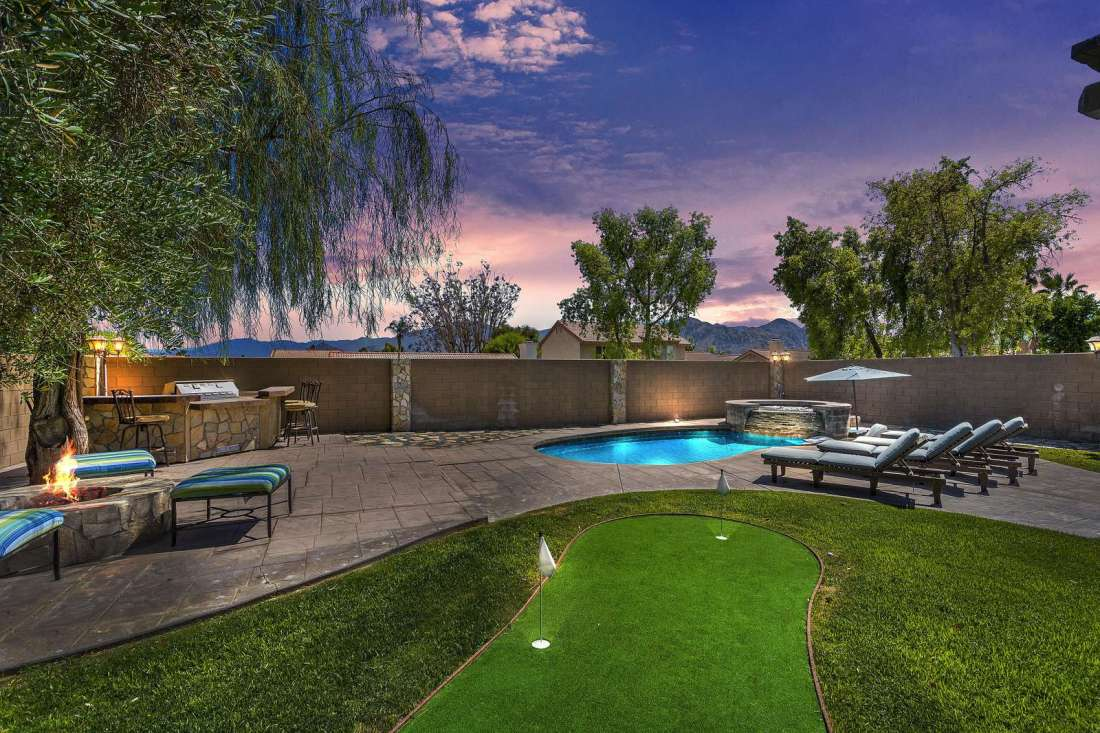 Back Yard Oasis with Putting Green