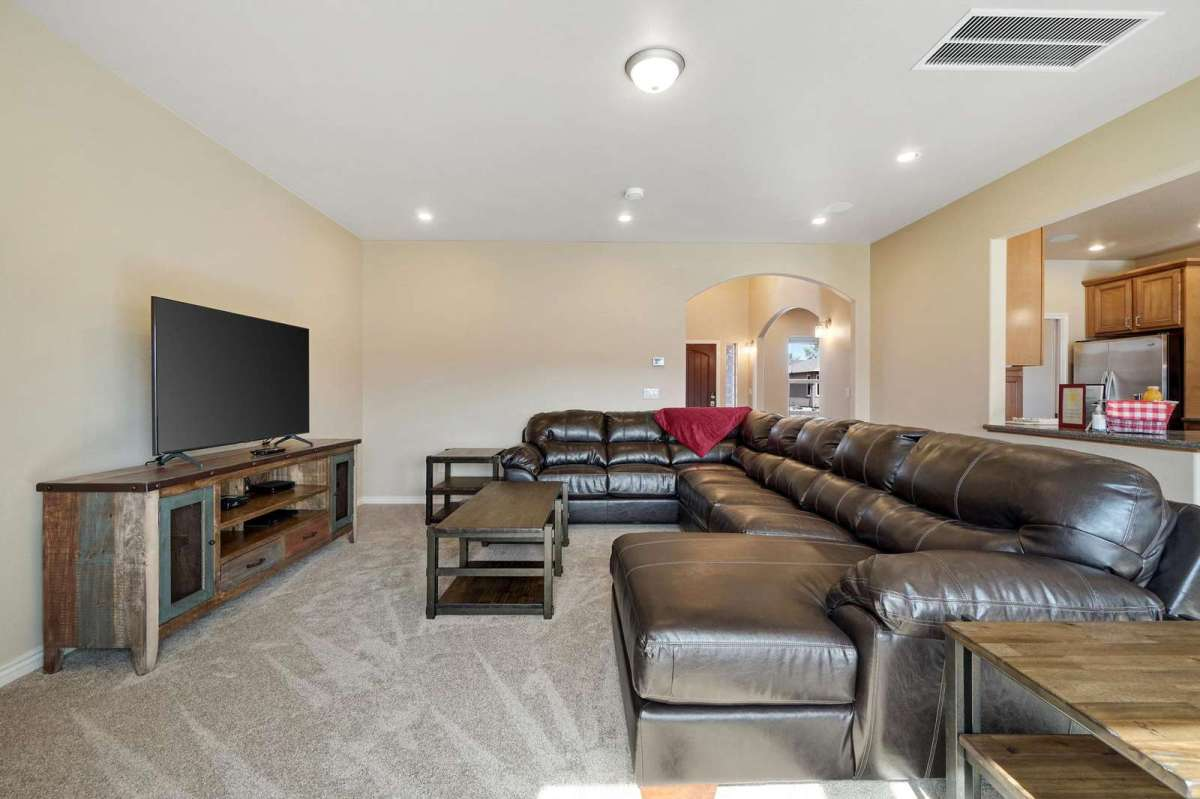 Big comfortable sectional couch