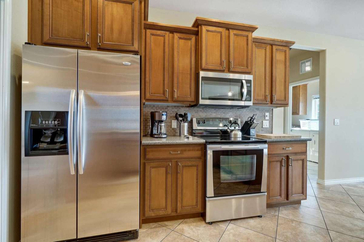All stainless steel appliances