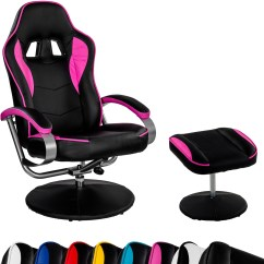 Easy Chairs With Integral Footrest Folding Chair Outlet Racing Tv Relax Racer Gt Gaming