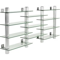 STILISTA Design Glas-Aluminium CD/DVD Regal Wandregal f ...