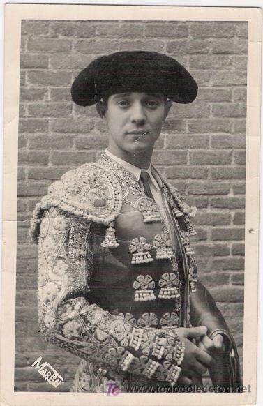 FOTOGRAFIA AUTOGRAFIADA DEL TORERO DIEGO PUERTA. MARTIN. MADRID. (Otros Coleccionismos - Tauromaquia)