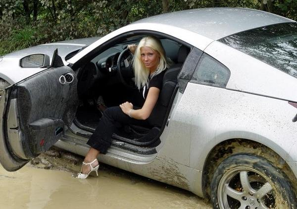 Cute Girl Smoking Wallpaper Nissan 350z Stuck In The Mud By A Blonde News Top Speed