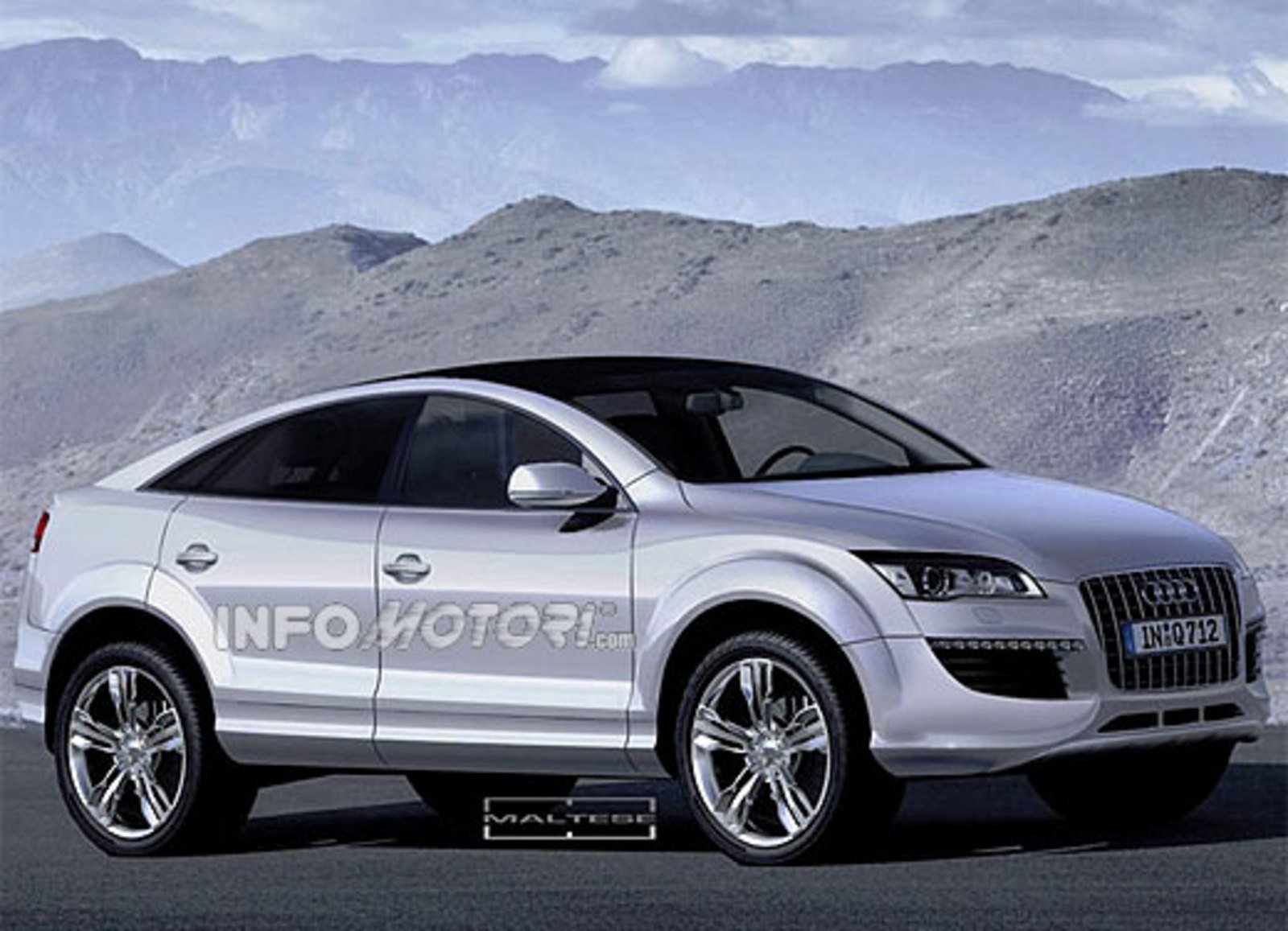 hight resolution of audi q6 targets the new bmw x6